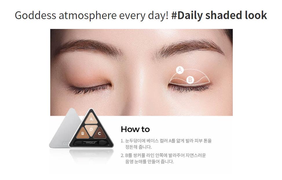 Bảng Màu Mắt 4 Ô Make Heal Hidden Triangle Palette - 10