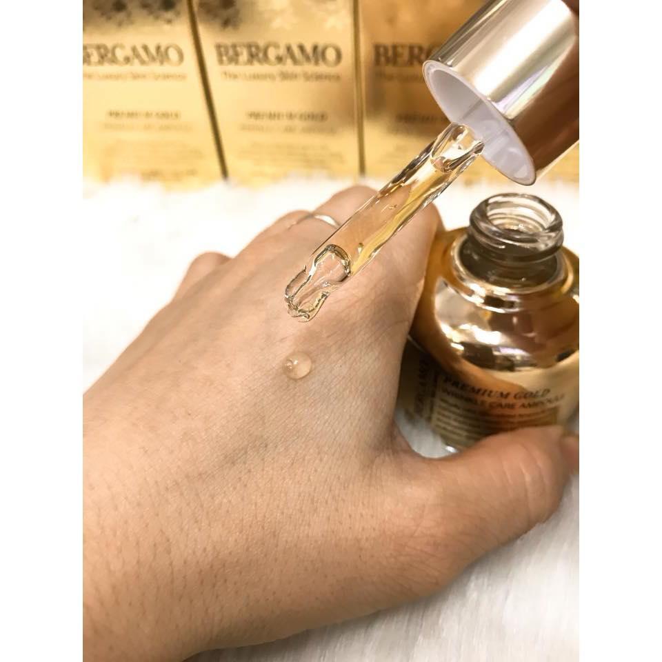 Review Tinh Chất Chống Lão Hóa Bergamo Premium Gold Wrinkle Care Ampoule