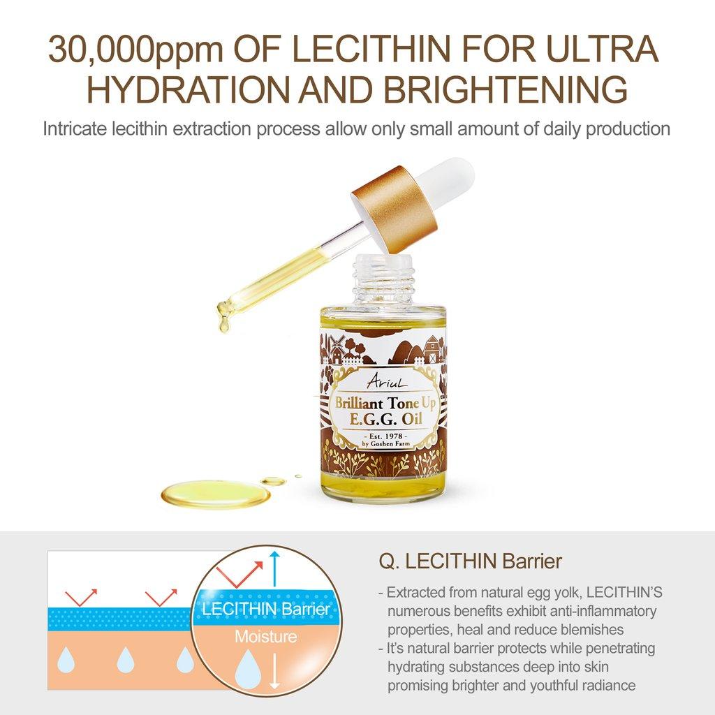 Bo Kem Va Dau Duong Da Ariul Organic Egg Yolk Oil & Cream Bundle, Brilliant Tone Up E.g.g.