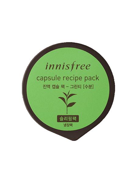 Mặt Nạ Ngủ Innisfree Capsule Recipe Green Tea