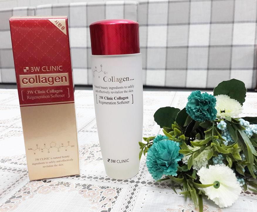 Huong Dan Su Dung Nuoc Hoa Hong 3W Clinic Collagen Regeneration Softener