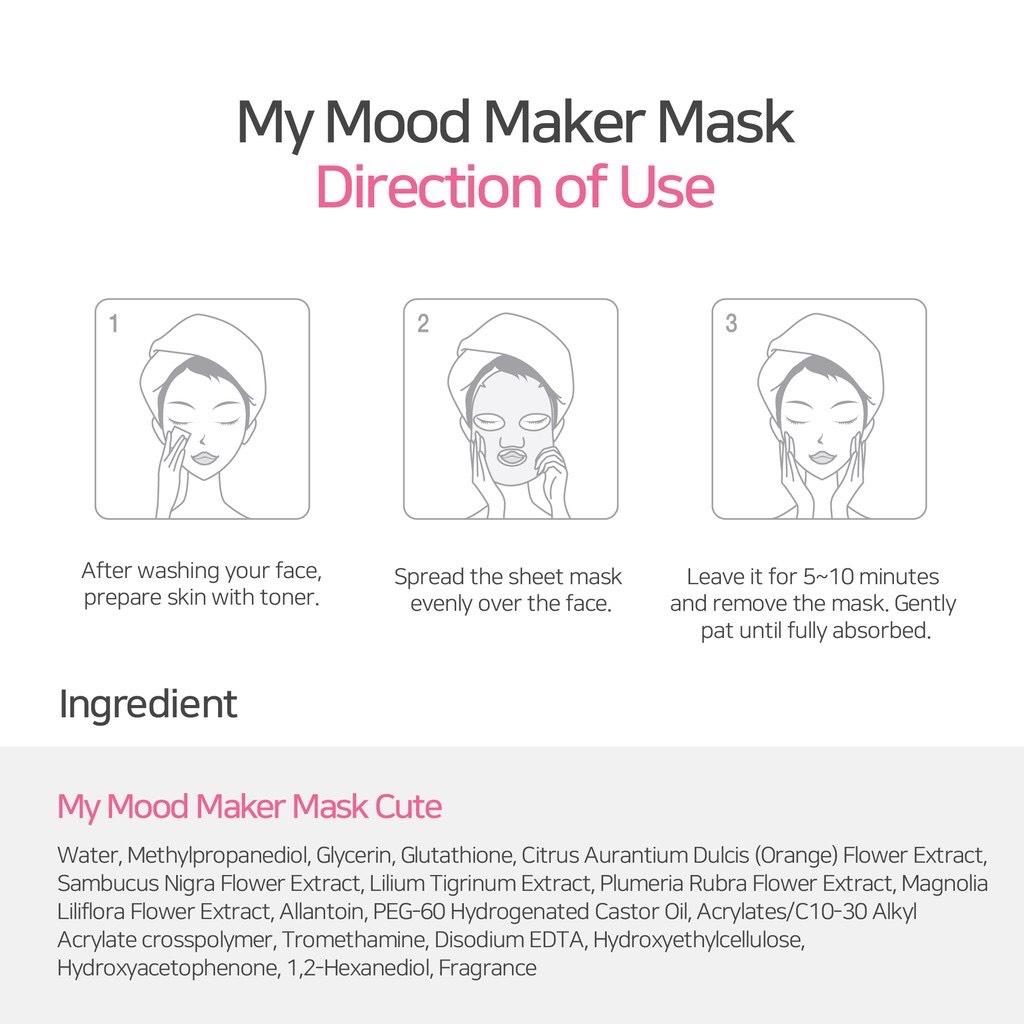 Hướng dẫn sử dụng Mặt Nạ Dưỡng Da Ariul My Mood Maker Mask