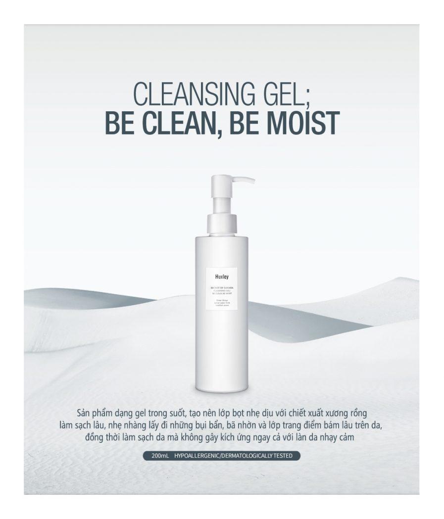Huxley Cleansing Gel Be Clean