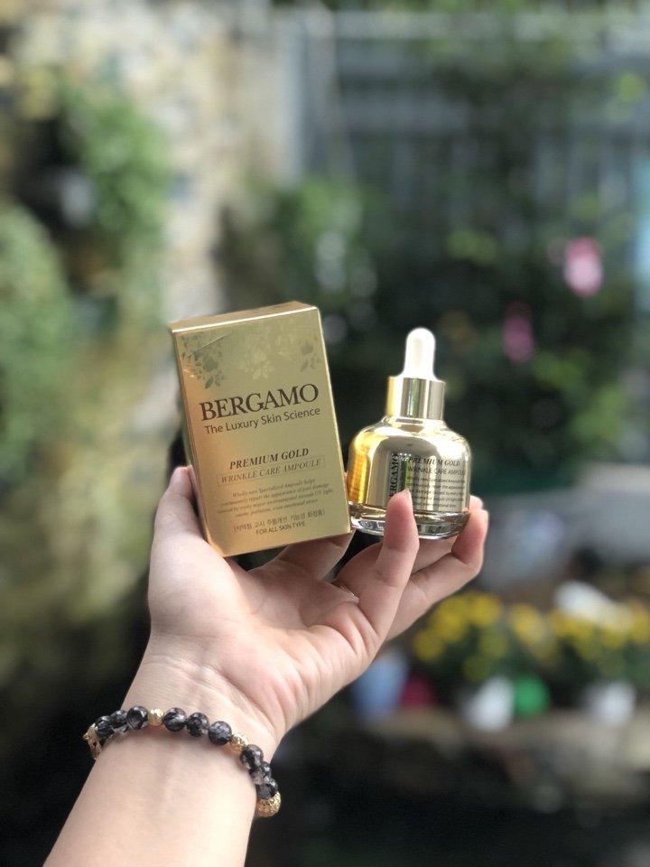 Công Dụng Của Bergamo Premium Gold Wrinkle Care Ampoule