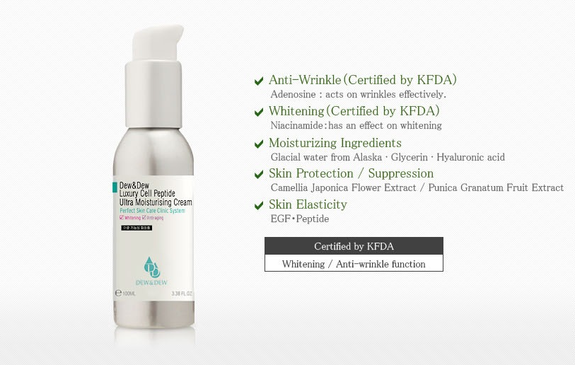 Kem Dưỡng Trắng Da Dew&Dew Luxury Cell Peptide Ultra Moisturising Cream-4