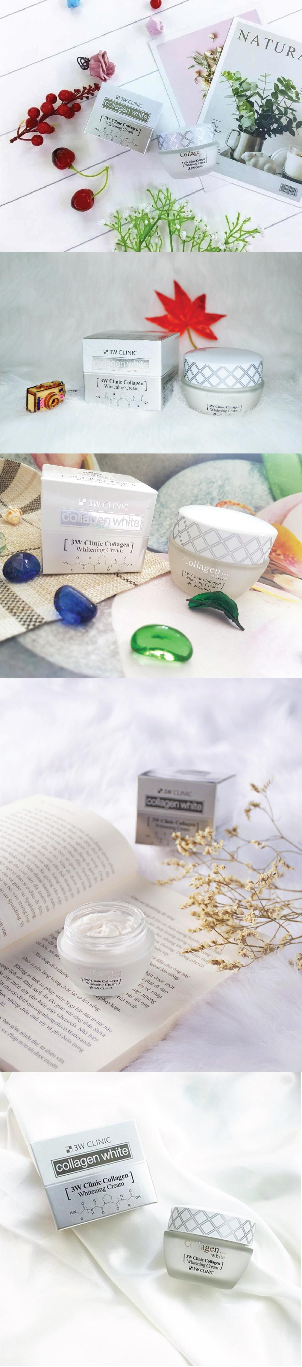 Kem Duong Trang Da 3W Clinic Collagen Whitening Cream
