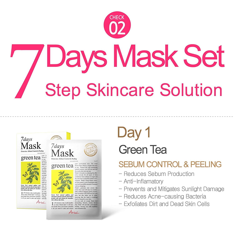 Mat Na Ariul 7 Days Mask Set (7 Loai)