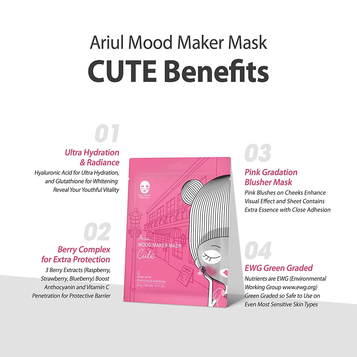 Mat Na Ariul My Mood Maker Mask Cute