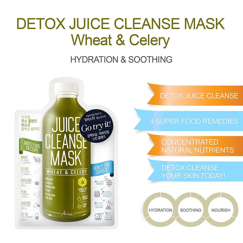 Mat Na Thai Đoc Hoa Qua Ariul Detox Juice Cleanse Sheet Mask Packs