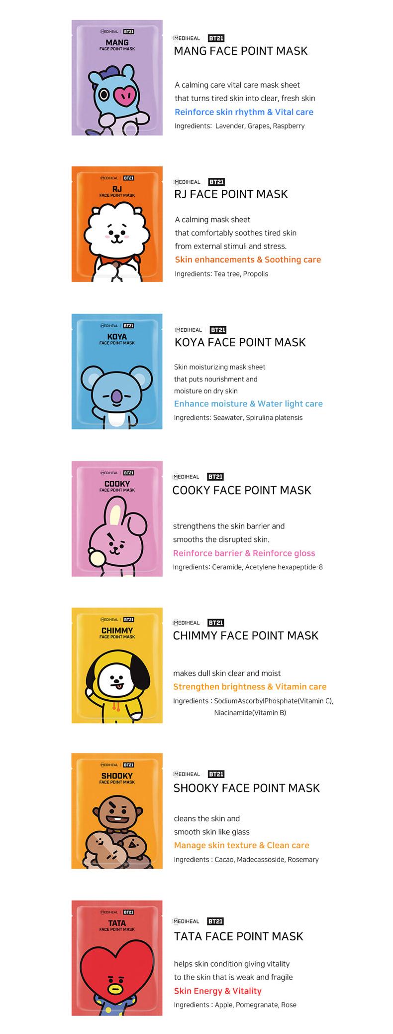 Mediheal BT21 Face Point Mask