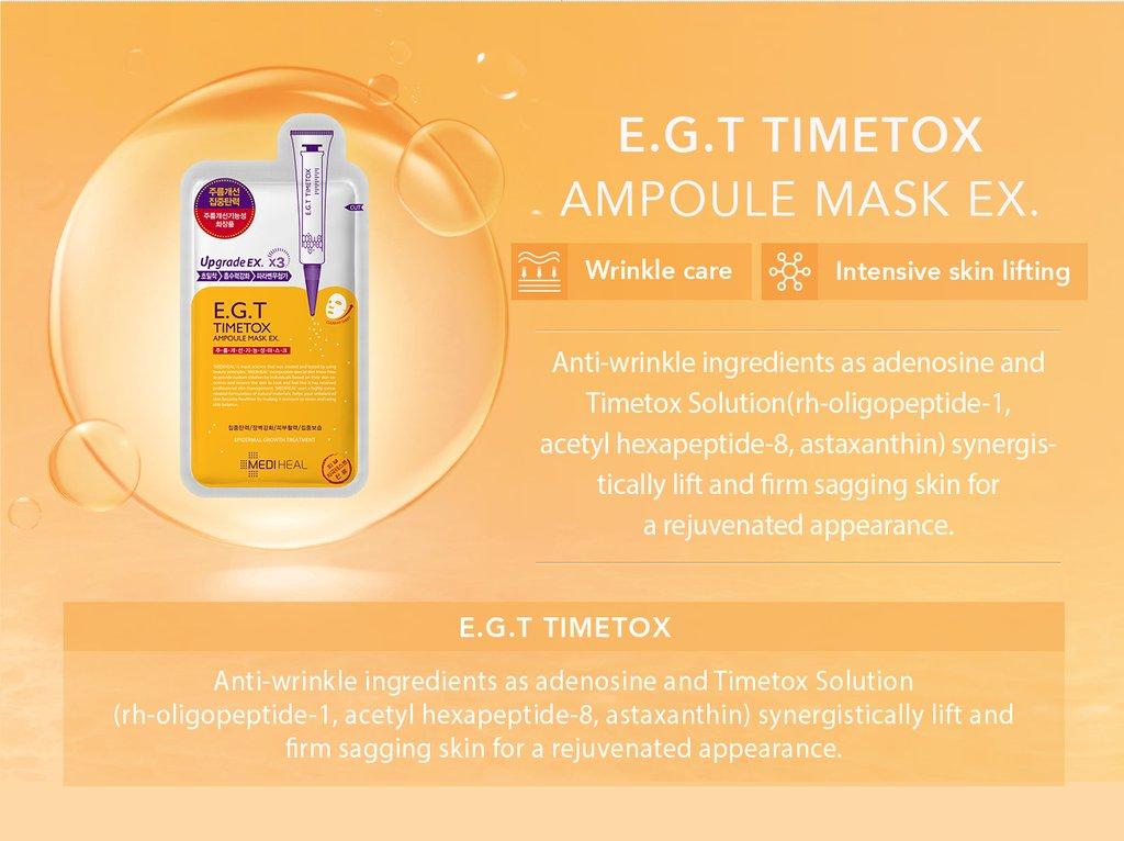 Mediheal E.G.T Timetox Ampoule Mask