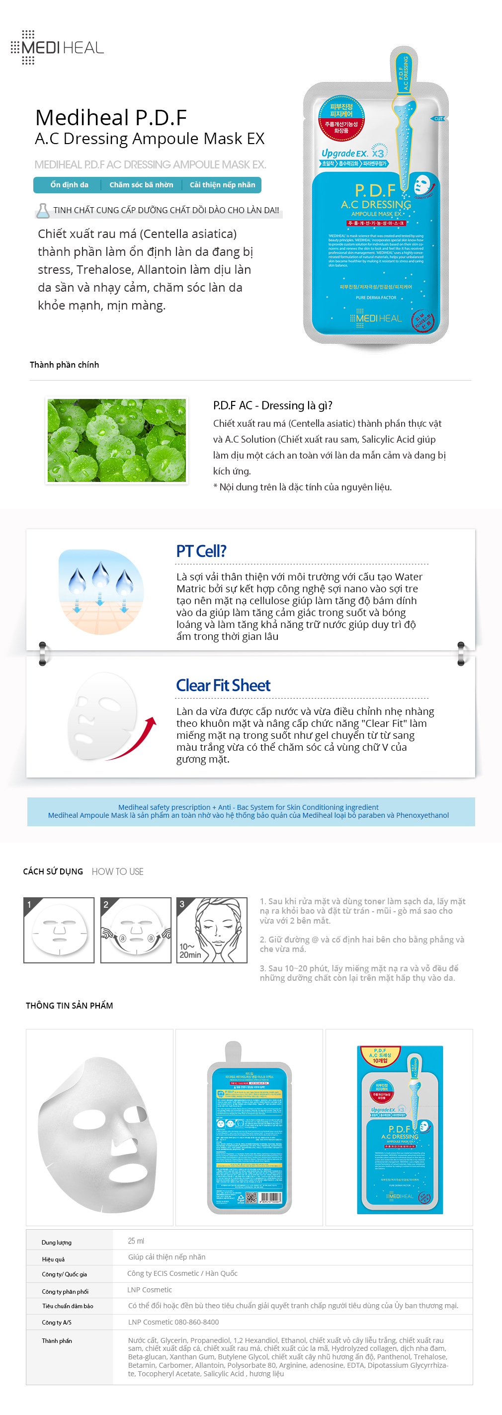 Mediheal PDF AC Dressing Ampoule Mask