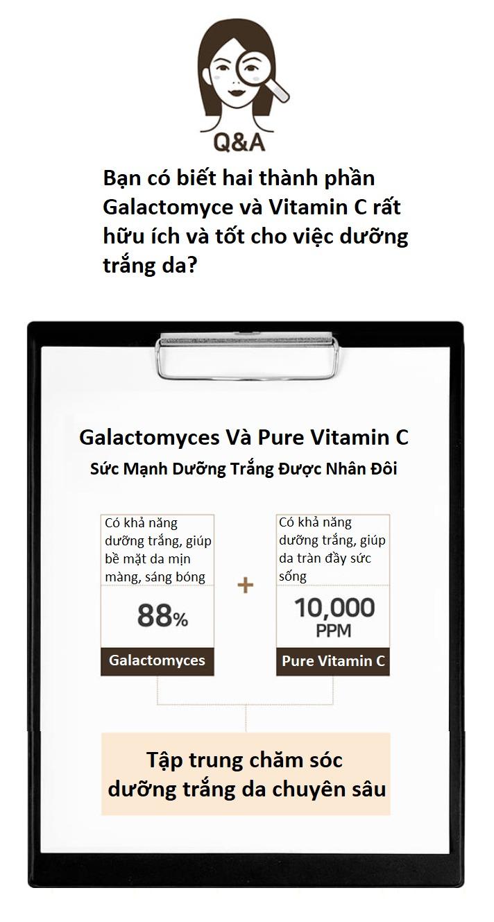 Nước Hoa Hồng Dưỡng Trắng, Chống Lão Hóa Nuôi Dưỡng Làn Da Sáng Mịn Từ Bên Trong Some By Mi Galactomyces Pure Vitamin C Glow Toner
