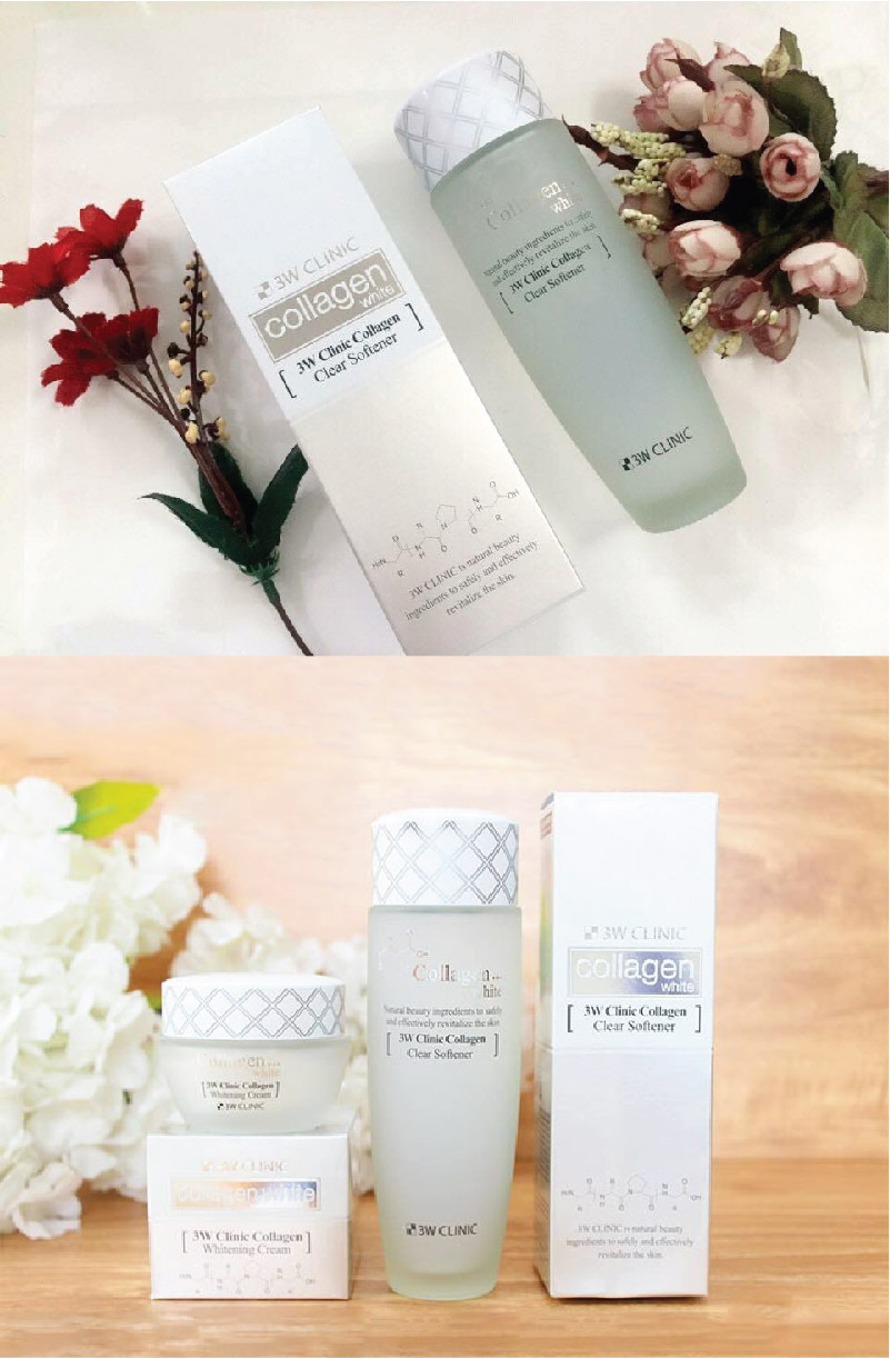 Nước Hoa Hồng Dưỡng Trắng, Tái Tạo Da 3W Clinic Collagen White Clear Softener