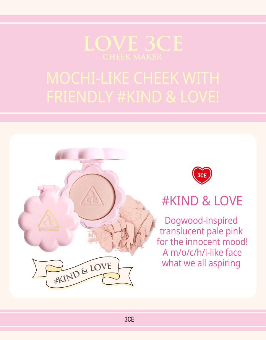 Phấn Má Hồng Love 3CE Cheek Maker