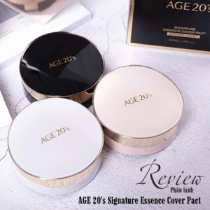 Review Phấn Lạnh AGE 20's Signature Essence Cover Pact