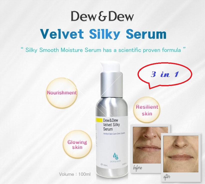 Serum Dưỡng Ẩm Trắng Da 3 In 1 Dew&Dew Velvet Silky