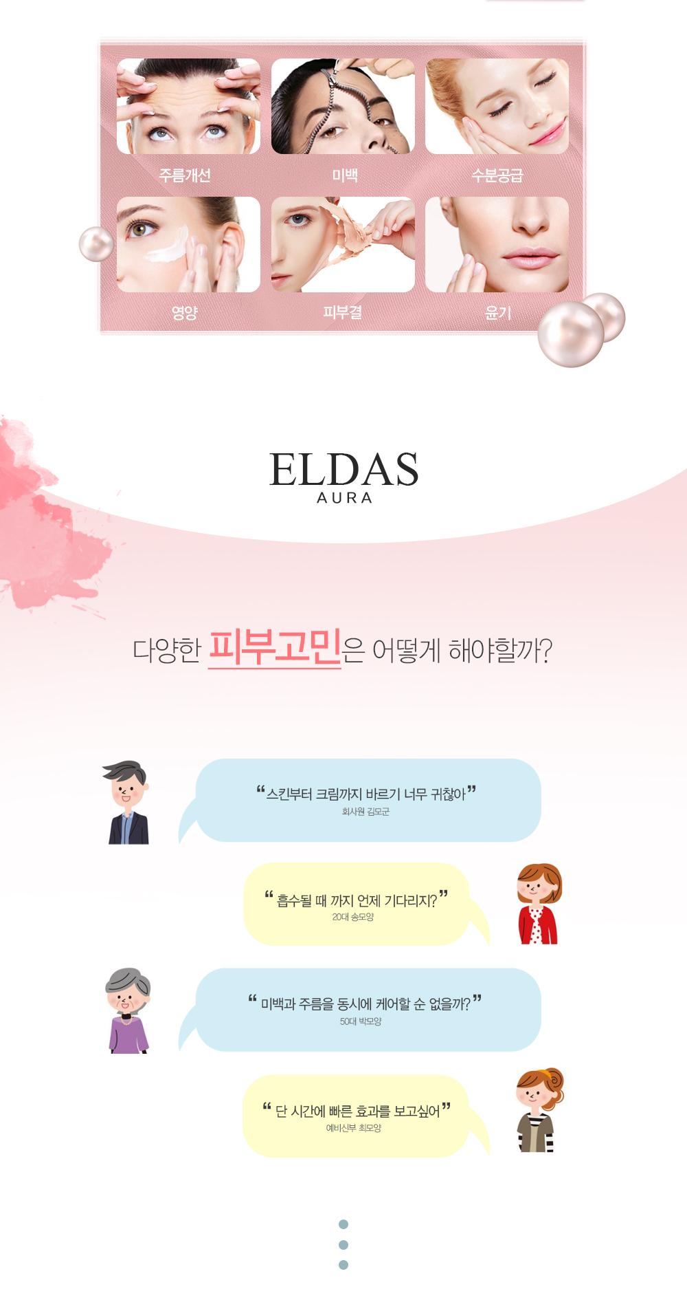 Serum Tế Bào Gốc Eldas Aura Coreana Shine Gold Pearl Premium Peptide All In One