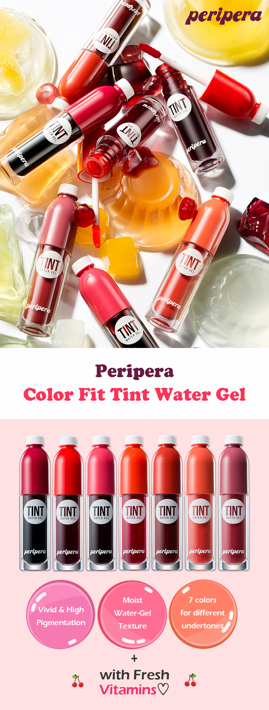 Son Nước Peripera Color Fit Tint Water Gel