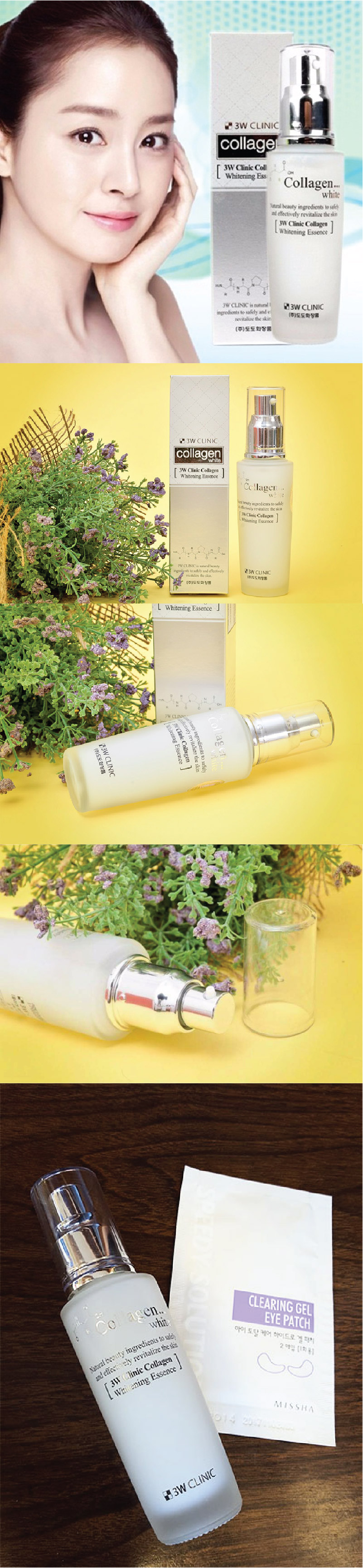 Tinh Chất Dưỡng Trắng Da 3W Clinic Collagen Whitening Essence