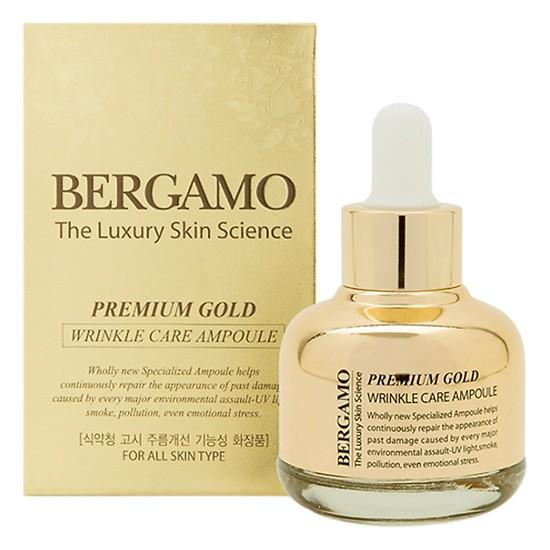 Tinh Chất Chống Lão Hóa Bergamo Premium Gold Wrinkle Care Ampoule