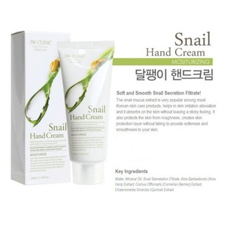 kem-duong-da-tay-tinh-chat-oc-sen-3w-clinic-snail-hand-cream-100ml
