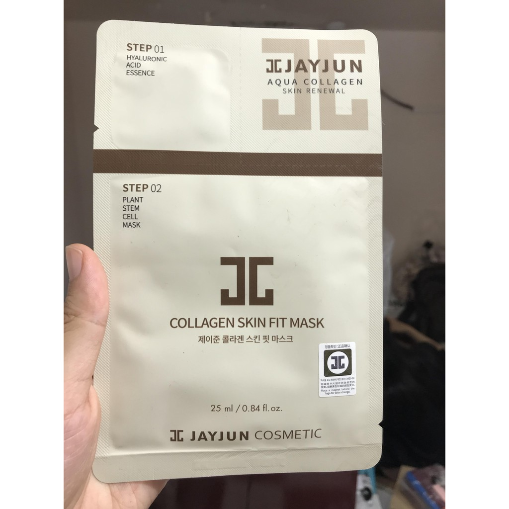 Mặt Nạ Giấy 2 bước dưỡng da JayJun Collagen Skin Fit Mask 25ml/mask