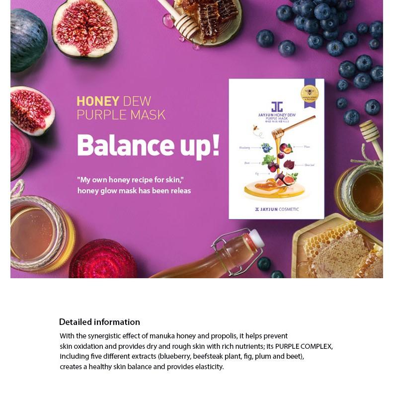 Mặt Nạ Mật Ong JAYJUN Honey Dew Purple Mask 25ml