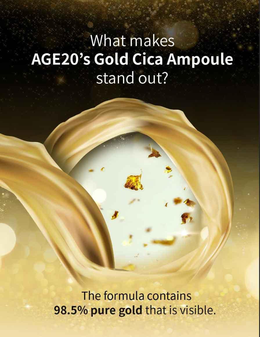 Tinh chất dưỡng da Age20's Gold Cica Ampoule