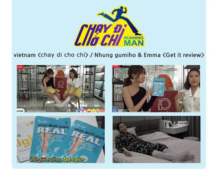 Rest Up Real Vitamin Leg Moisturizing Pack Đã Được Lên Sóng Việt Nam (Chạy Đi Chờ Chi)