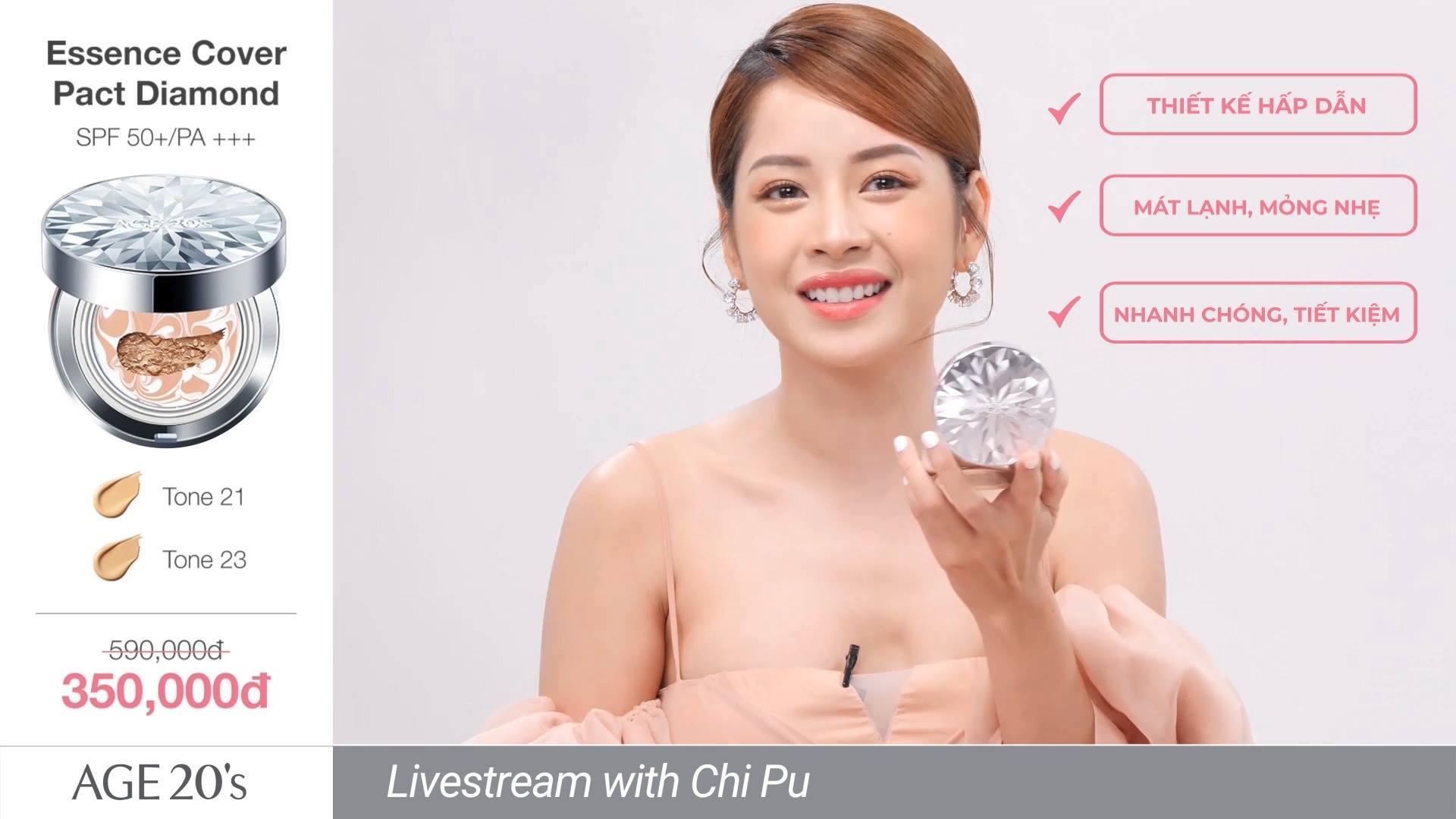 Phấn Nền Lạnh Kim Cương Age20's Essence Cover Pact Diamond SPF 50+/PA +++ - 1
