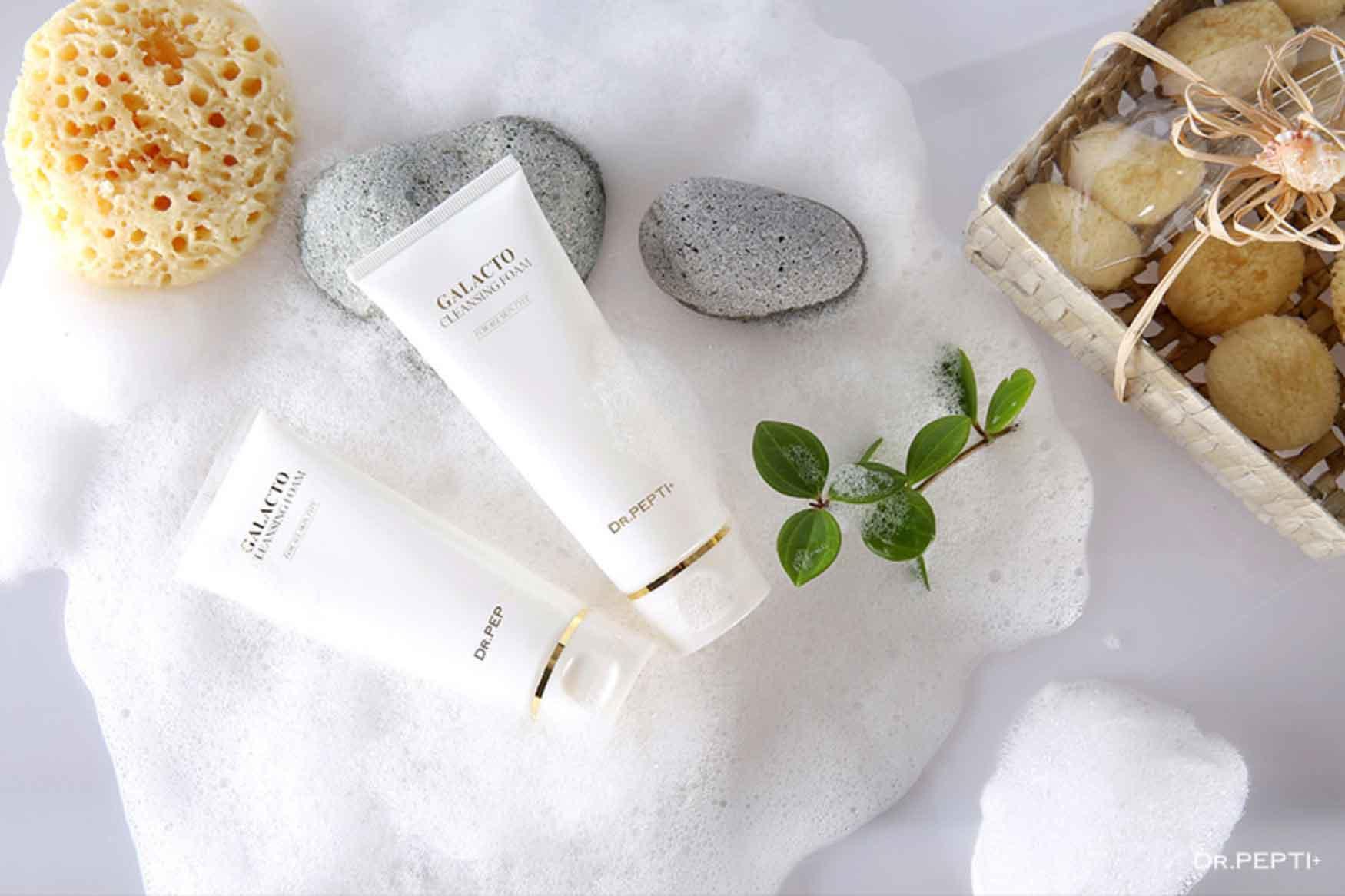 Sửa Rửa Mặt Tạo Bọt Dr Pepti+ Galacto Cleansing Foam - Ảnh 1