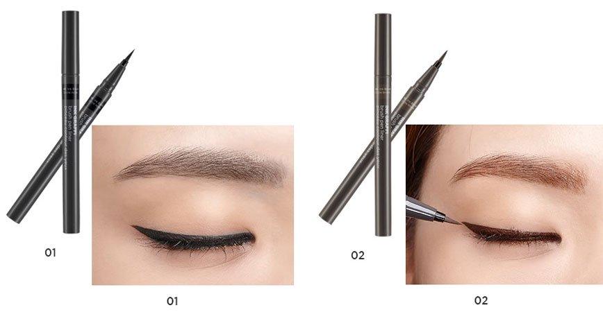 Kẻ Mắt The Face Shop Ink Graffi Brush Pen Liner - 3