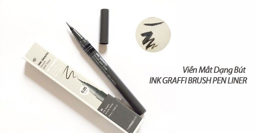 Kẻ Mắt The Face Shop Ink Graffi Brush Pen Liner - 1