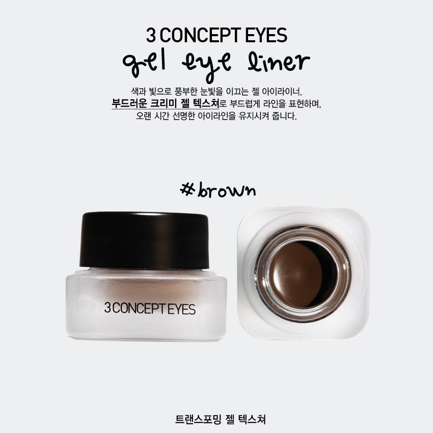 Gel Kẻ Mắt Không Trôi 3CE Gel Eye Liner - (Brown)