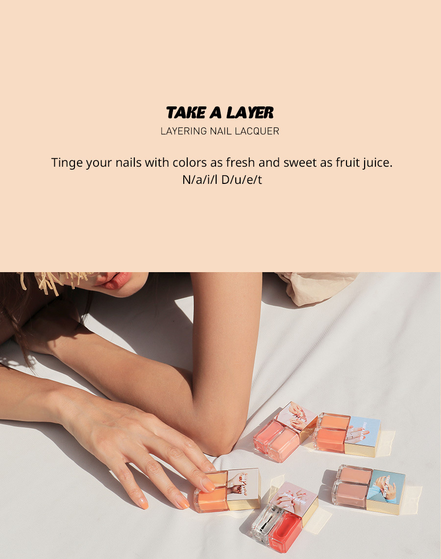 Sơn Móng Tay 3CE Take A Layer Layering Nail Lacquer