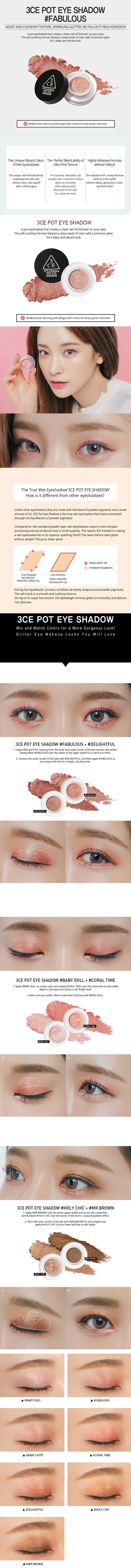 Phấn Mắt Nhũ 3CE Pot Eye Shadow - 2