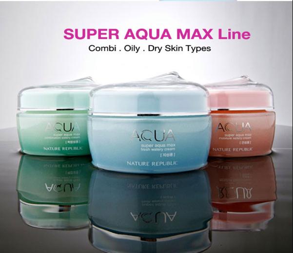 Kem Dưỡng Da Nature Republic Super Aqua Max Moisture Watery Cream - 3