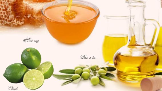 mặt nạ dầu oliu, chanh, mật ong