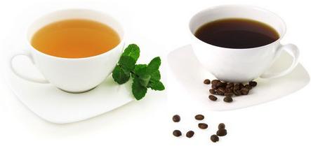thói quen uống trà và cafe