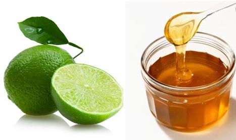 trị thâm môi bằng chanh mật ong