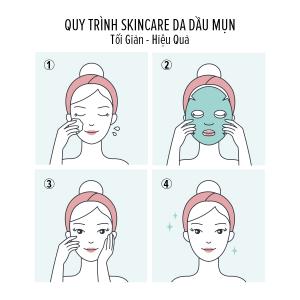 Skincare routine cho da dầu mụn tối giản - hiệu quả