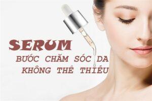 sử dụng serum chăm sóc da