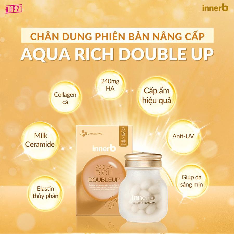 Công dụng Collagen InnerB Aqua Rich Double Up