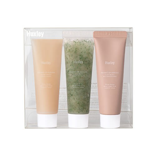 Huxley Spa 30gx3 (Scrub Mask, Clay Mask, Sleep Mask)