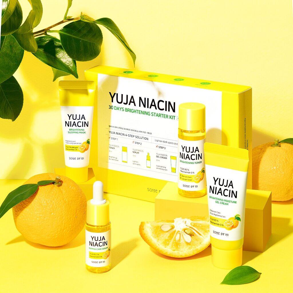 Bộ Kit Some By Mi Dưỡng Sáng Da Chiết Xuất Thanh Yên 4 Món Yuja Niacin 30 Days Miracle Brightening Starter Kit