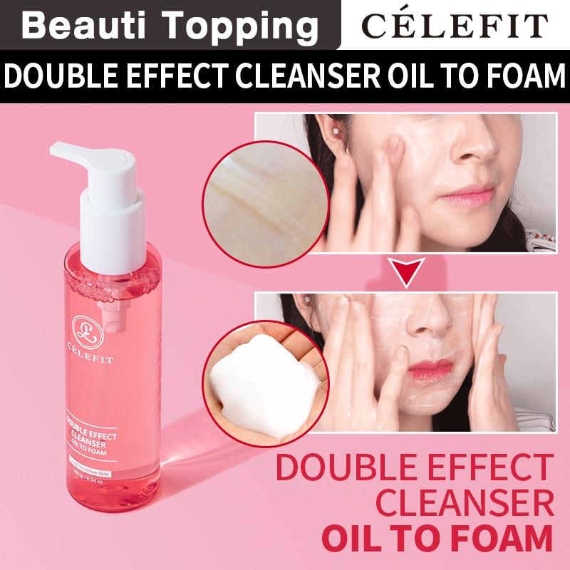 ẩy trang và sữa rửa mặt - Célefit Double Effect Cleanser Oil To Foam