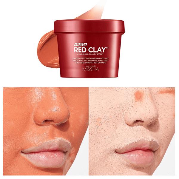 Mặt Nạ Đất Sét Làm Sạch Sâu Missha Amazon Red Clay Pore Mask 110ml